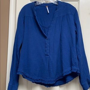 Free people top blue XS